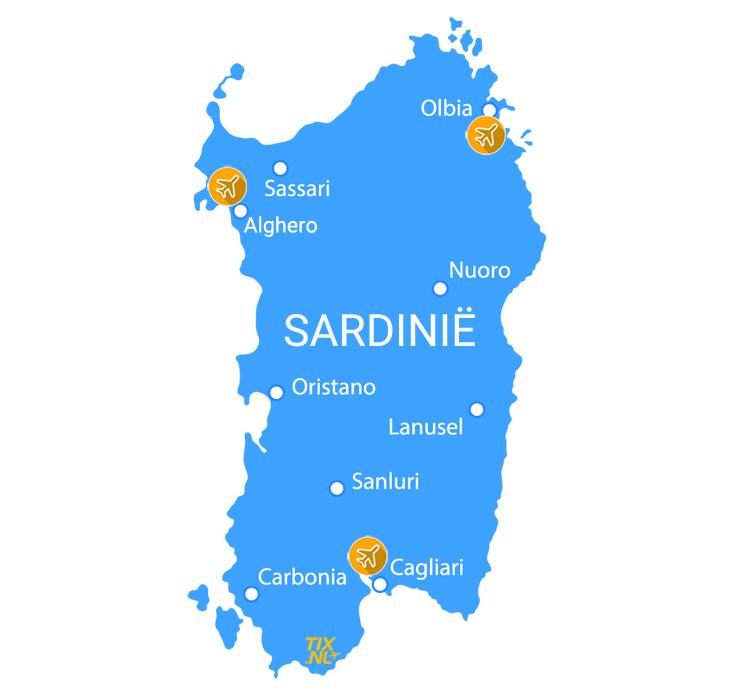 Vertrek Sardinië